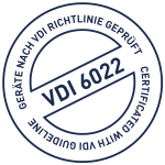 VDI 6022 - Geräte nach VDI Richtlinie geprüft